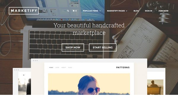 Marketify theme wordpress creer boutique multi vendeur marketplace