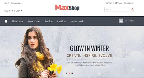 MaxShop Thème Prestashop Creer boutique en ligne de mode