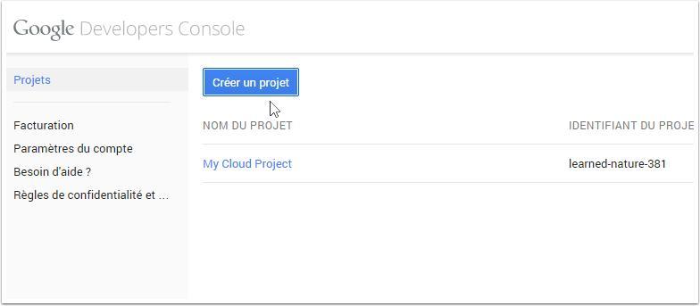 google-creer-un-projet