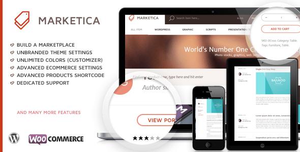 Marketica: un tema de WordPress para crear un mercado | BlogPasCher