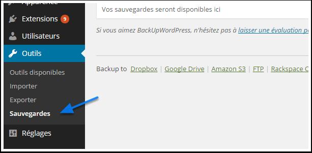 Wordpress как сделать резервную копию
