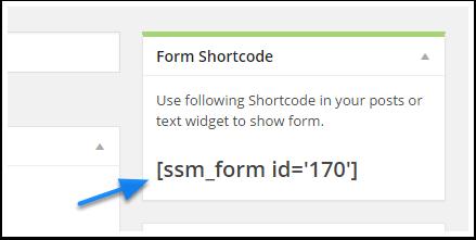 recuparation du shortcode