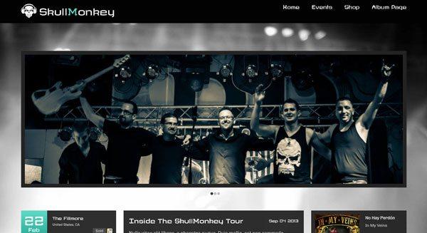 Rock Band: Un tema de WP para crear un sitio web de Rock Band ...