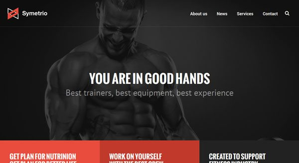 Symetrio: Un tema de WordPress para crear un sitio de fitness ...