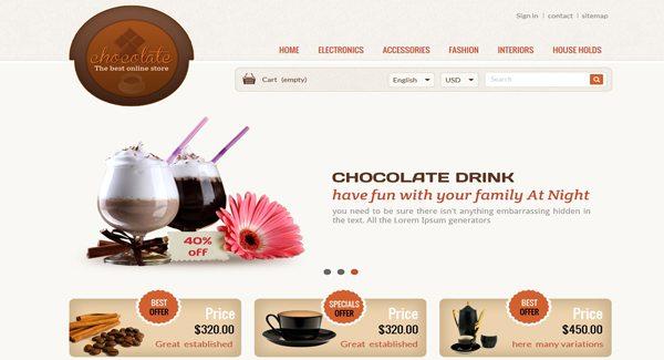 Chocolate Thème Prestashop Pour Créer Site ECommerce De Chocolat