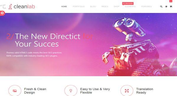 CleanLab-thème-WordPress-pour-créer-un-site-d'entreprise