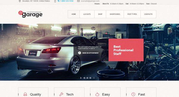 Garagem-theme WordPress-to-create-a-site-web-de-garagem