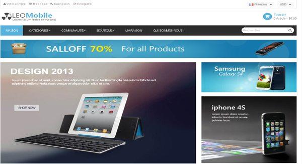 Тема Leo Mobile Prestashop для магазина планшетов