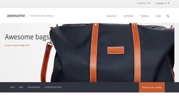 Multi FluidThème Prestashop pour vendre des sacs à main