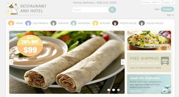 Restaurant And Hotel Thème Prestashop Pour Restaurant