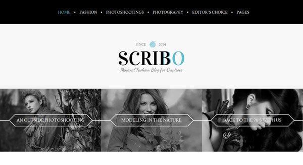 Scribbo : un thème WordPress pour créer un blog au design pro
