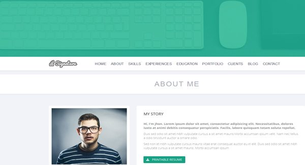 Signature-theme-WordPress-to-create-the-website-of-your-resume Anda