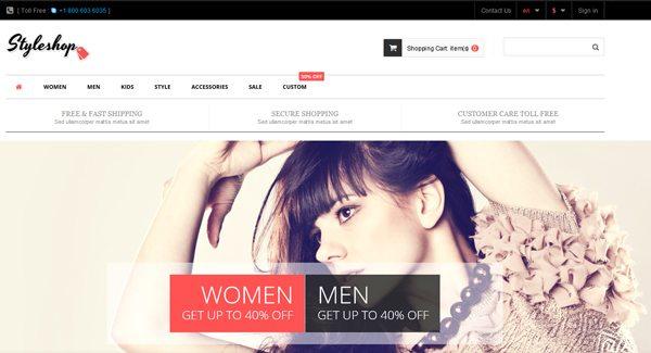Styleshop Thème Prestashop Pour Boutique De Vêtements Sur Internet