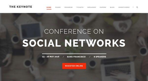 The Keynote Theme Wordpress Creer Site Internet Conference Seminaire Evenement