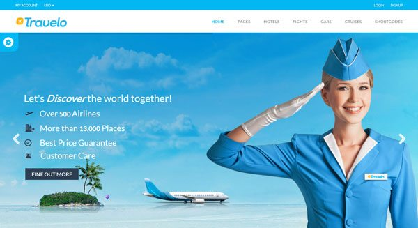 Travelo un th me wordpress pour cr er un site de booking for Site web pour hotel