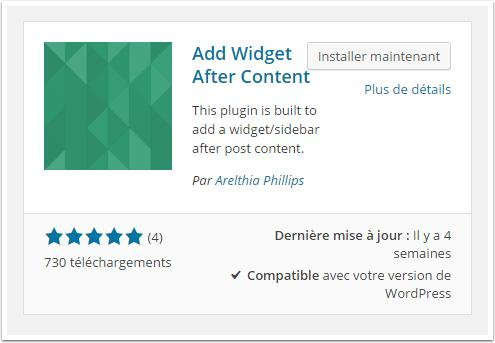 add-widget-after-content-isntallation-tableau-de-bord
