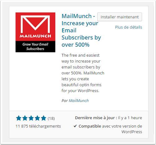 mailmunch-installation-tableau-de-bord