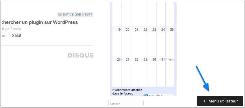 user-menu apresentação