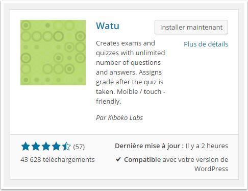 watu-plugin-installation-tableau-de-bord