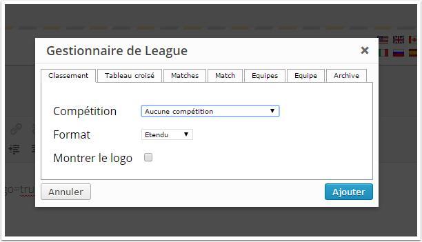 gestion-de-league-shortcodes