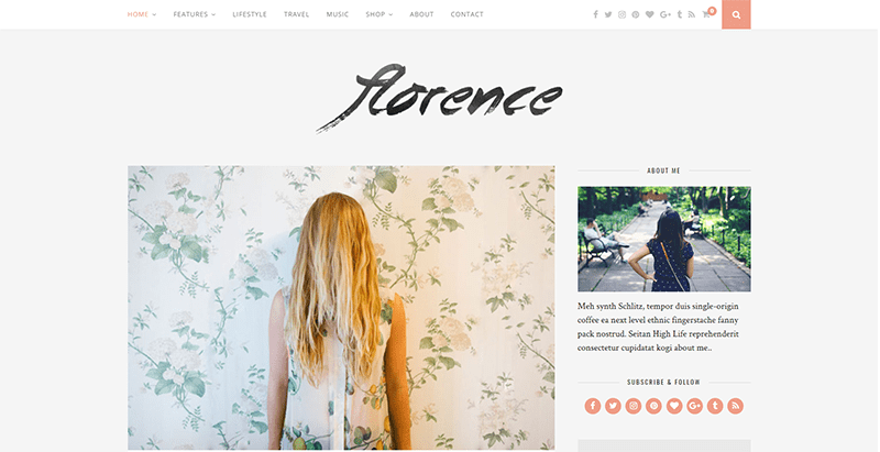 Florence-meilleurs thèmes WordPress de magazine