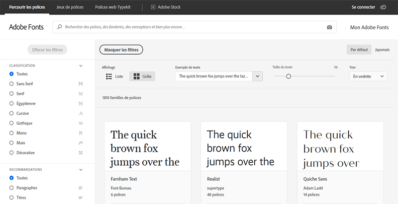 Typography WordPress fonts typekit