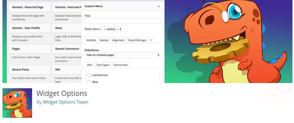 masquer le titre d'un widget WordPress - Widget options