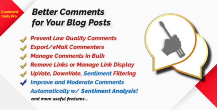 Comment tools with sentiment analysis