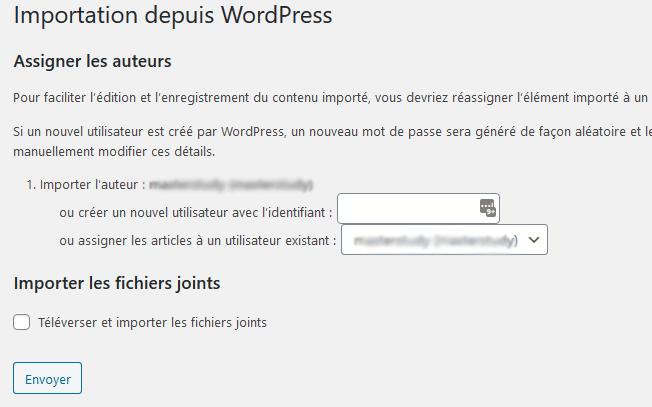 Comment importer exporter menus navigation wordpress blogpascher 5 1