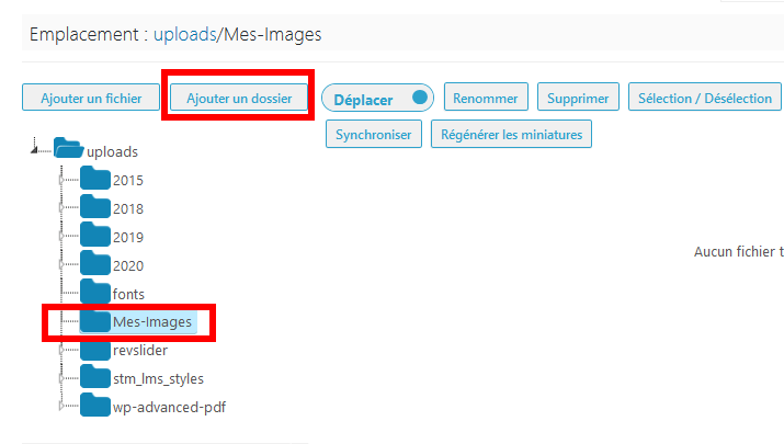 Comment organiser fichiers wordpress dossiers bibliothèque médias blogpascher 3