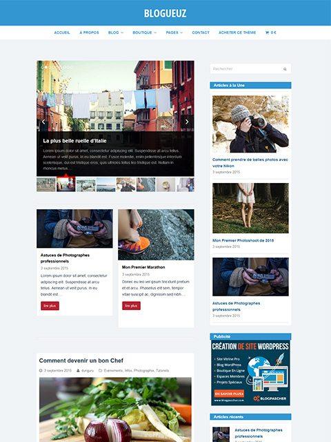 Blogeuz: Un tema (tro) para crear un blog de WordPress Pro | BlogPasCher