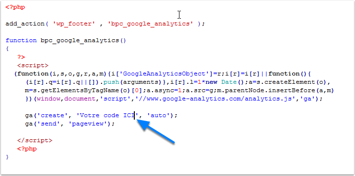 google-analytics-integration code