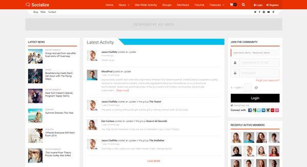 socialize-theme-wordpress-creer-site-web-communaute-reseau-social-wordpress