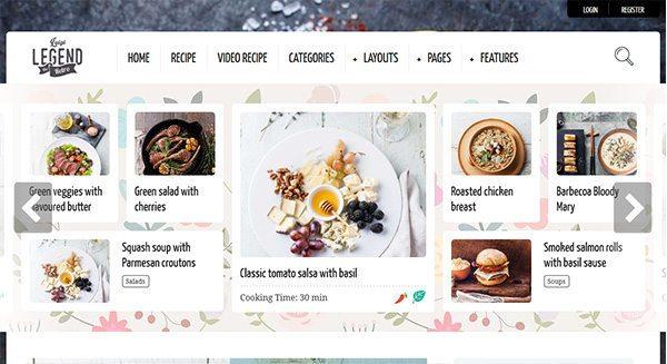 a lenda-theme-wordpress-blog-how-criar-cozinha de taxa de criação de local-food
