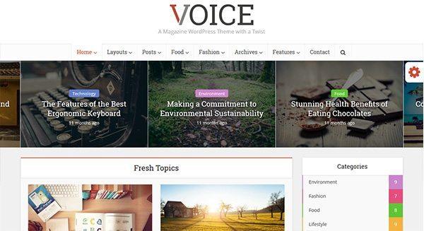 voz-theme-wordpress-crear-blog-periódico-revista-realidad-viaje-precio creación