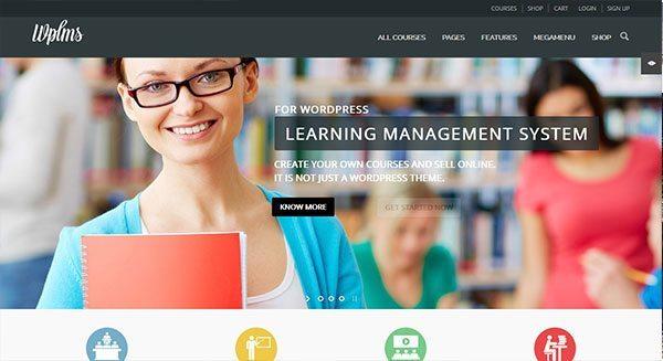 wplms theme wordpress creer site web education vendre cours en ligne formation
