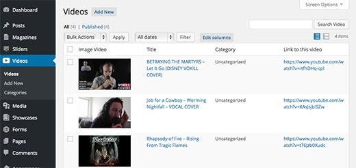 YouTube-сингл-галерея
