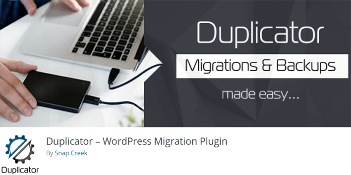Duplicator plugin wordpress migration clone