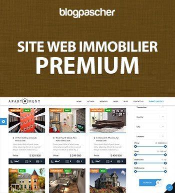 Création De Site Immobilier – Premium
