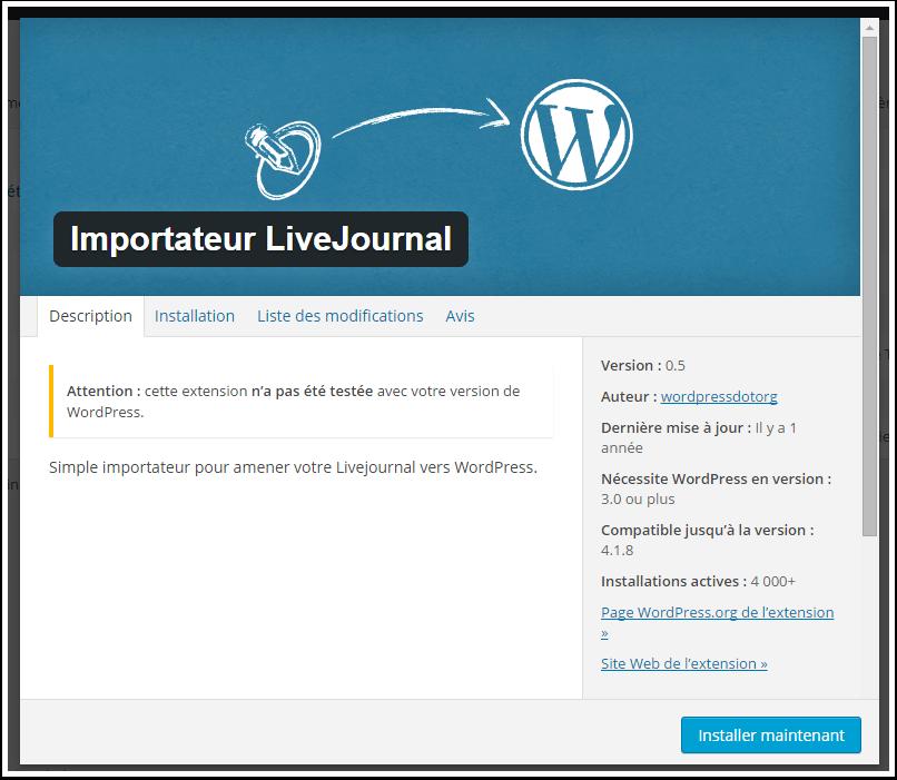 instalar-agora-livejournal importador
