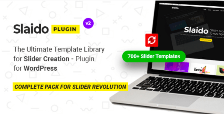 Slaido template pack for slider revolution wordpress