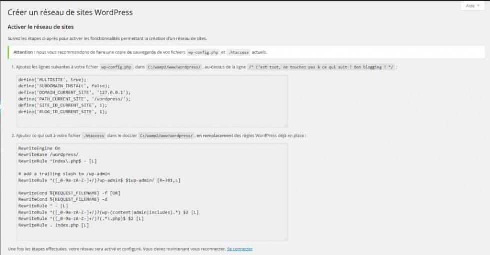 Code fourni WordPress blogpascher