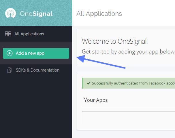 New APP OneSignal