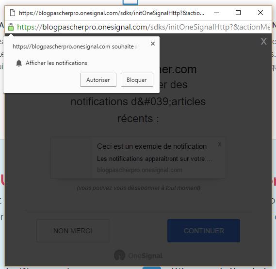 Notificação Chrome