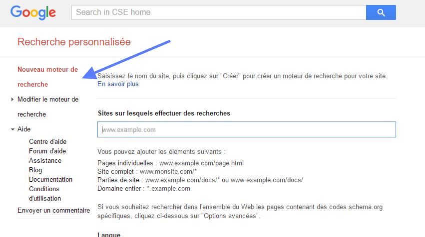 Nouveau moteur de recherche Google