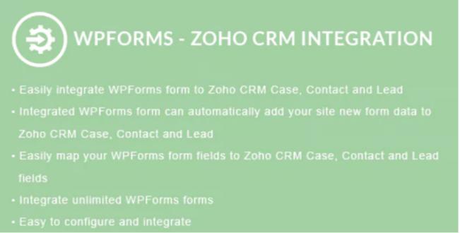 Wpforms zoho crm integration