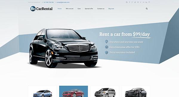5 temas de WordPress para alquiler de vehículos | BlogPasCher