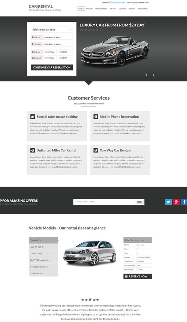 car rental un theme wordpress pour creer un site de location de vehicules blogpacher 1 blogpascher. Black Bedroom Furniture Sets. Home Design Ideas
