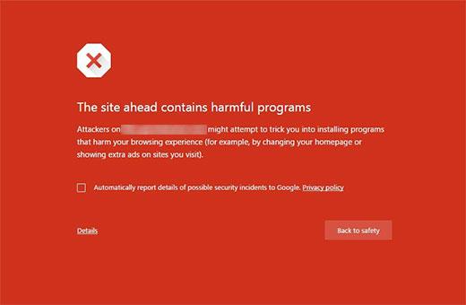 página derreur-google-chrome
