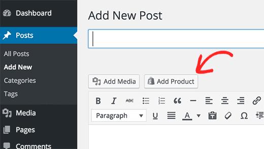 Adicione um produto em WordPress